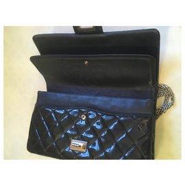 Chanel-jumbo: 32x21x8cm-Bleu Marine