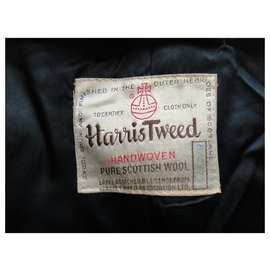 Autre Marque-vintage coat made in USA in Harris Tweed size M-Grey