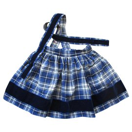 Bonpoint-Skirt with straps, tartan, 3ans.-Multiple colors
