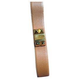 Hermès-dog collar belt-Caramel