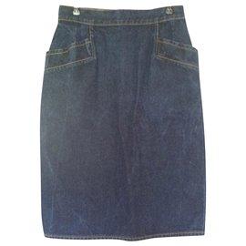 Yves Saint Laurent-Yves saint-laurent skirt-Blue