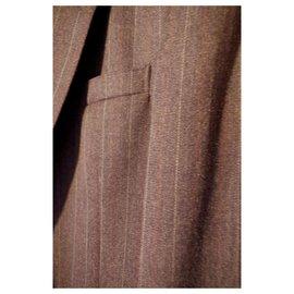 Yves Saint Laurent-Jacket ysl striped-Dark grey
