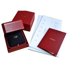 Cartier-Bague Cartier Juste un clou en or blanc-Argenté,Blanc,Gris