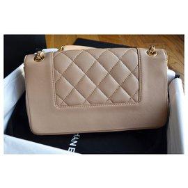 Chanel-Sac Chanel Mademoiselle Vintage Medium Flap Bag-Beige,Doré