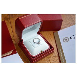 Cartier-Cartier Solitaire ring 1895 In platinum 950 and diamond 0.70 ct-Silvery,White,Grey