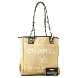 Chanel-Chanel cabas Cambon Medium-Beige