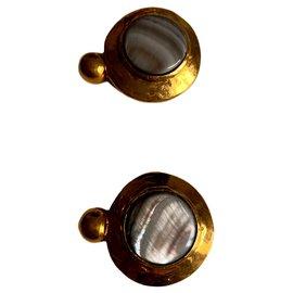 Autre Marque-Boutons de manchette en bronze doré-Doré