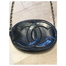 Chanel-Clutch bags-Black,Golden