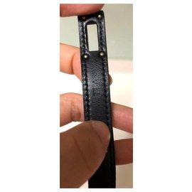 Hermès-Bracelet de visite doublé Hermes So Black Kelly-Noir