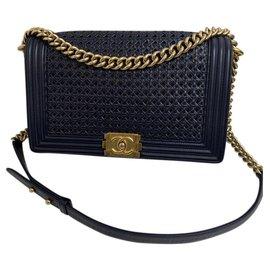 Chanel-Chanel Boy-Bleu foncé