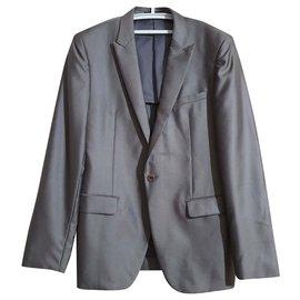 Paco Rabanne-Blazers Jackets-Brown,Silvery