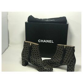 Chanel-Ankle Boots-Black