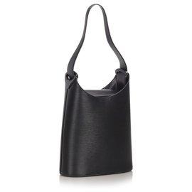 Louis Vuitton-Louis Vuitton Black Epi Sac Verseau-Black