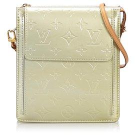 Louis Vuitton-Louis Vuitton Silver Vernis Pochette Mott-Silvery