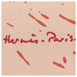 Hermès-Hermes Pink Cheval Surprise Silk Scarf-Pink,Red