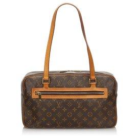 Louis Vuitton-Louis Vuitton Brown Monogram Cite GM-Brown