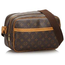 Louis Vuitton-Louis Vuitton Brown Monogram Reporter PM-Brown
