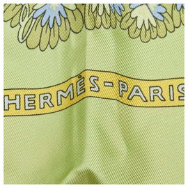 Hermès-Hermes Green Ombres et Lumieres Silk Scarf-Multiple colors,Green,Light green
