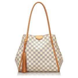 Louis Vuitton-Louis Vuitton White Damier Azur Propriano-White,Blue,Cream