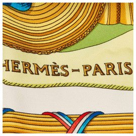 Hermès-Hermes White 1789 Liberte Egalite Fraternite Silk Scarf-White,Multiple colors