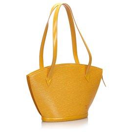Louis Vuitton-Louis Vuitton Yellow Epi Saint Jacques GM Long Strap-Yellow