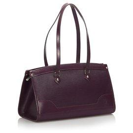 Louis Vuitton-Louis Vuitton Purple Epi Madeleine PM-Purple