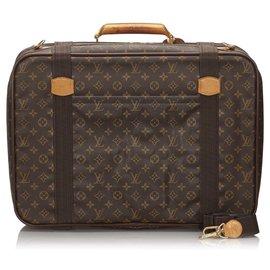 Louis Vuitton-Satellite Louis Vuitton Brown Monogram 53-Marron