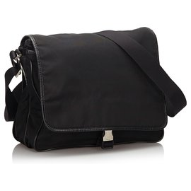 Prada-Prada Black Nylon Crossbody Bag-Black