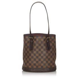Louis Vuitton-Louis Vuitton Brown Damier Ebene Marais-Brown