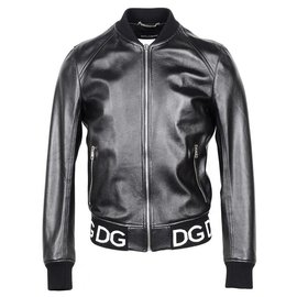 Dolce & Gabbana-Dolce e Gabbana leather jacket new-Black