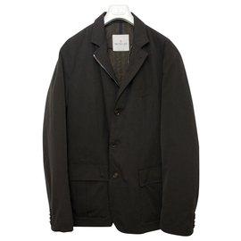 Moncler-Down Blazer Grenoble Coat-Dark brown