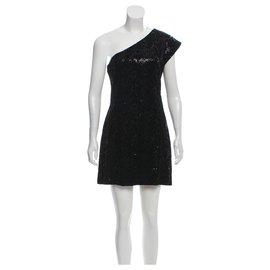Halston Heritage-Sequinned dress-Black