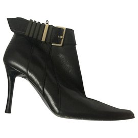 Bottega Veneta-Buckled ankle boots-Black