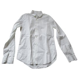 Valentino-Chemise blanche, classique, taille 39.-Blanc