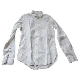 Valentino-White shirt, classical, taille 39.-White