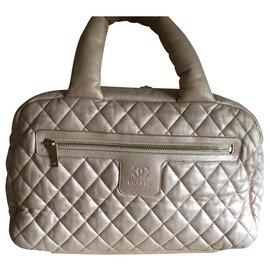 Chanel-SAC CHANEL COCOON EN CUIR AGNEAU DORE TRES CLAIR-Doré