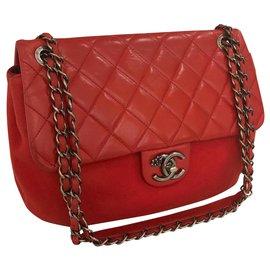 Chanel-Paris-Salzbourg 27 cm Sac à rabat-Rouge