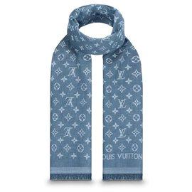 Louis Vuitton-Louis Vuitton Scarf-Blue