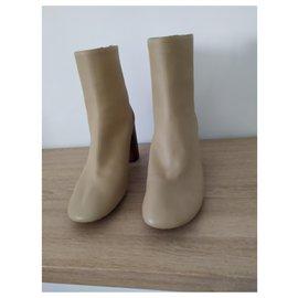Céline-Céline boots-Beige,Dark red