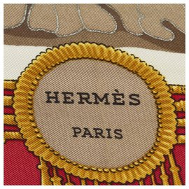 Hermès-Hermes Red Mexique Silk Scarf-Red,Multiple colors
