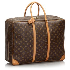 Louis Vuitton-Louis Vuitton Brown Monogram Sirius 50-Marron