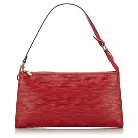 Louis Vuitton-Louis Vuitton Red Epi Pochette Accessoires-Red