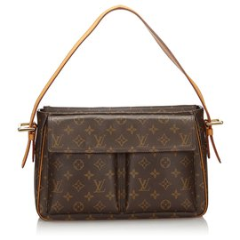 Louis Vuitton-Louis Vuitton Brown Monogram Viva Cite GM-Brown