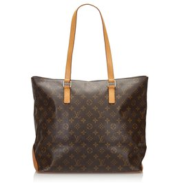 Louis Vuitton-Louis Vuitton Cabas Monogram Marron Mezzo-Marron