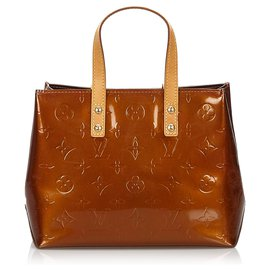 Louis Vuitton-Louis Vuitton Brown Vernis Reade PM-Marron,Bronze