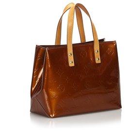 Louis Vuitton-Louis Vuitton Brown Vernis Reade PM-Brown,Bronze