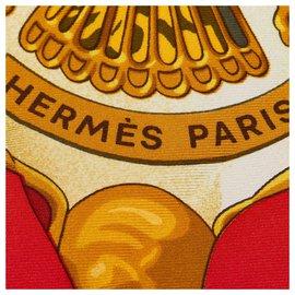 Hermès-Hermes White Soleil de Soie Silk Scarf-White,Multiple colors
