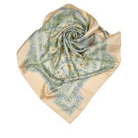 Hermès-Hermes Brown Joyaux de lEte Silk Scarf-Brown,Multiple colors,Beige