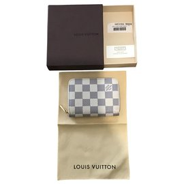 Louis Vuitton-Porte-monnaie Louis Vuitton-Blanc,Beige