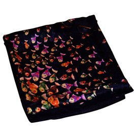 inconnue-Scarves-Black,Multiple colors